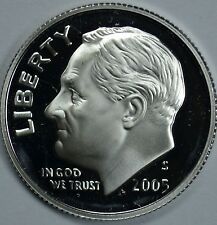 Silver 2005 S Proof Roosevelt Dime in Perfect Condition   .59  Ship