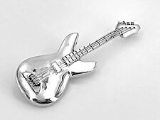 Estate .925 Sterling Silver Decorative Electric Guitar Pendant And Brooch