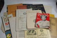Vintage 1900-1964 Paper Ephemera Booklet Lot Brochure Letter Lot X  25 PCS