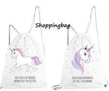 Einhorn Turnbeutel Sportbeutel Sporttasche Shoppingbag Unicorn  Kinderturnbeutel