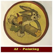 WW2 Hand Painted Antiqued Finish 548th Bomb Sqd Leather Patch For A2 / G1 Jacket