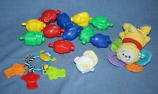 BABY TOY LOT Mattel Lamaze Infant Boy Girl Rattle Teether Snap Pop Bead Plush