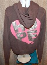 PINK by VICTORIA'S SECRET Brown HOPE Zip Hoodie Sweatshirt Women's Medium