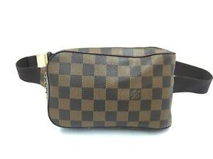 "Auth Louis Vuitton Damier Ebene Geronimos Shoulder Body bag  1D190100n"""