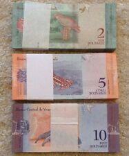300 Venezuela Banknotes. 100 X 2, 5 & 10 Bolivares. Unc. 300 Pcs. Dated 2018.
