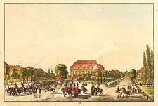 DRESDEN - NEUSTADT VOM SCHWARZEN THORE - Ludwig Richter - kolor. Radierung 1820