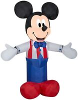 3.5' FT PATRIOTIC UNCLE SAM MICKEY MOUSE AIRBLOWN INFLATABLE LED YARD DECOR