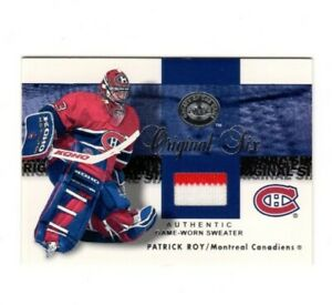 2001/02 Fleer Great Of The Game Original Six*Patrick Roy*Jerseys (Red/White) #9