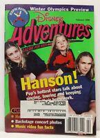 Disney Adventures Kids Magazine Back Issue February 1998 Hanson