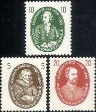 Germany 1957 Euler/Mathematics/Hertz/Radio/Science/Scientists 3v set (n46329)