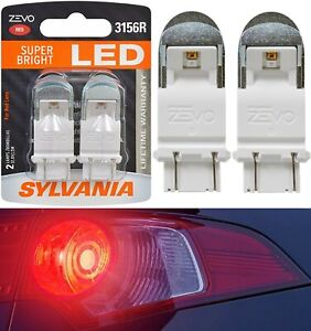 Sylvania ZEVO LED Light 3156 Red Two Bulbs Rear Turn Signal Replacement Upgrade