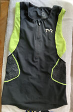 Tyr Men's M Triathlon Top Black/yellow