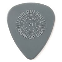 Dunlop 450P.71 Prime Grip Delrin 500 Electric Guitar Picks, 0.71mm, 12-Pack