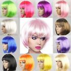 US Party Bob Hair Wigs Short Straight Women Halloween Fun Full Wig Cosplay Dress