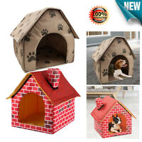 Portable Dog House Foldable Winter Warm Pet Bed Nest Tent Cat Puppy Kennel