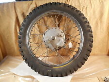 T1095 1978 78 SUZUKI TS125 REAR WHEEL + BRAKE PLATE + AXLE BOLT