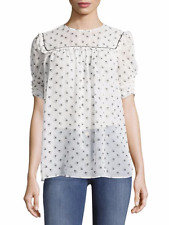 MIU MIU $980 Birds Print Geo Silk Top - IT 42 (UK 10)