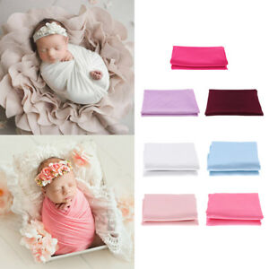Stretch Newborn Photography Wrap Blanket for Photo Shooting Baby Photo Props
