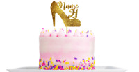 Personalised shoe high heel cake topper Decoration any name age colour Birthday