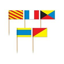 Beistle 60093 Nautical Flag Picks. Included