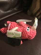 GoDog Chew Guard Flying Pink Pig Dog Toy