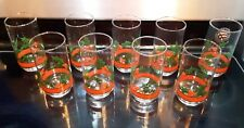 Libbey Glass Holly Berry Christmas 16 oz Coolers Tumbler Drinking Glass Set 9