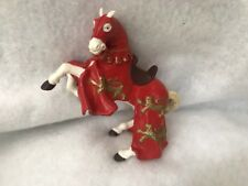 Papo King Richard RED Horse Fantasy Toy Figure Figurine 2001