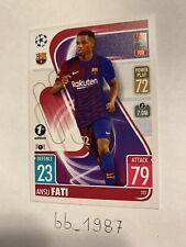 Topps - Match Attax CL 21/22 - 1st First Edition - #222 Ansu Fati  FC Barcelona
