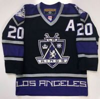 LUC ROBITAILLE LOS ANGELES KINGS 1999 AUTHENTIC ON ICE KOHO JERSEY 46
