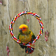 Bird Climbing Ring Rope Cotton Toy Parrot Cage Exercise Chewing Funny Toy  AA
