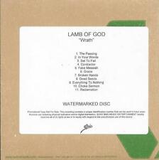 LAMB OF GOD Wrath promo advance CD