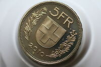 SWITZERLAND 5 FRANCS 2010 PROOF A89 #RZ945