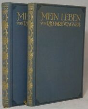 Richard Wagner / Mein Leben Erster Band and Zweiter Band Two Volume Set Complete