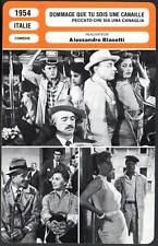 DOMMAGE QUE TU SOIS UNE CANAILLE - Loren (Fiche Cinéma) 1954 - Too Bad She's Bad