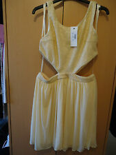 BNWT Gorgeous RARE Topshop cream cut out sequin bodice Prom dress 12 RRP £62.00