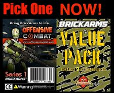 Offensive Combat weapon set pack Brick Arms fig Axe knife sniper rifles gun