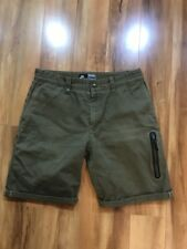Rare Nike Sportswear NSW Tier 0 Selvedge Olive Green Chino Shorts 32""