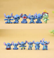 12Pcs Disney Anime Lilo & Stitch Action Figure Collectible Toy Kids Xmas Gift
