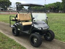 "gray 2015 ezgo 48v txt 4 seat Passenger golf cart 14"" alloy rims lifted"