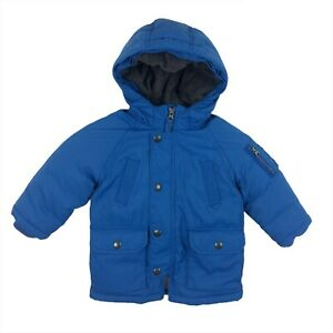 Baby Gap 18 24 months Hooded Puffer Coat Jacket Blue Primaloft Zip Boys Toddler