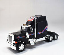 Welly 1:32 Peterbilt 379 Semi Tractor Trailer Diecast Model Black New in Box