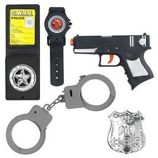 Child Police Pretend Play Set Gun Cop Boys Girls Book Week Day Fancy Dress Kit