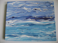 Deep Sea - Original Acrylic Painting - Stretched Canvas - 10 x 12