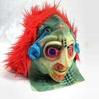 Vtg Fun World Alien Space Man Mask 9224 Sci Fi Halloween Taiwan Red Hair READ