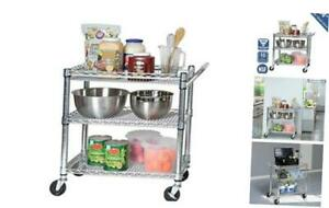 Seville Classics 3-Tier Heavy-Duty NSF-Certified Commercial Shelving with