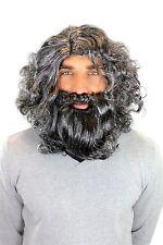 Carnival Wig & Beard Caveman Neanderthal Wood Sprite Hermit 6098