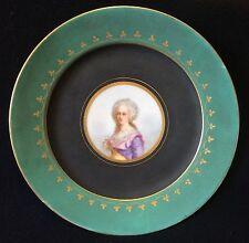 Assiette porcelaine Paris Reine de France Marie-Antoinette d'Autriche Royaliste