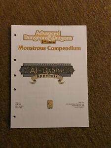 AD&D / D&D / Advanced Dungeons & Dragons  MC13 -  Al-Qadim Appendix - TSR 2129