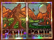 2016 Widespread Panic Art Print Poster Jeff Wood Signed 16/20 Silver Foil Varian