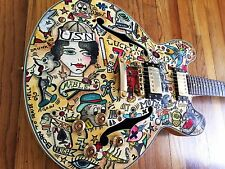 Custom Guitar Viggo Hollow Body Old School Tattoo Signed